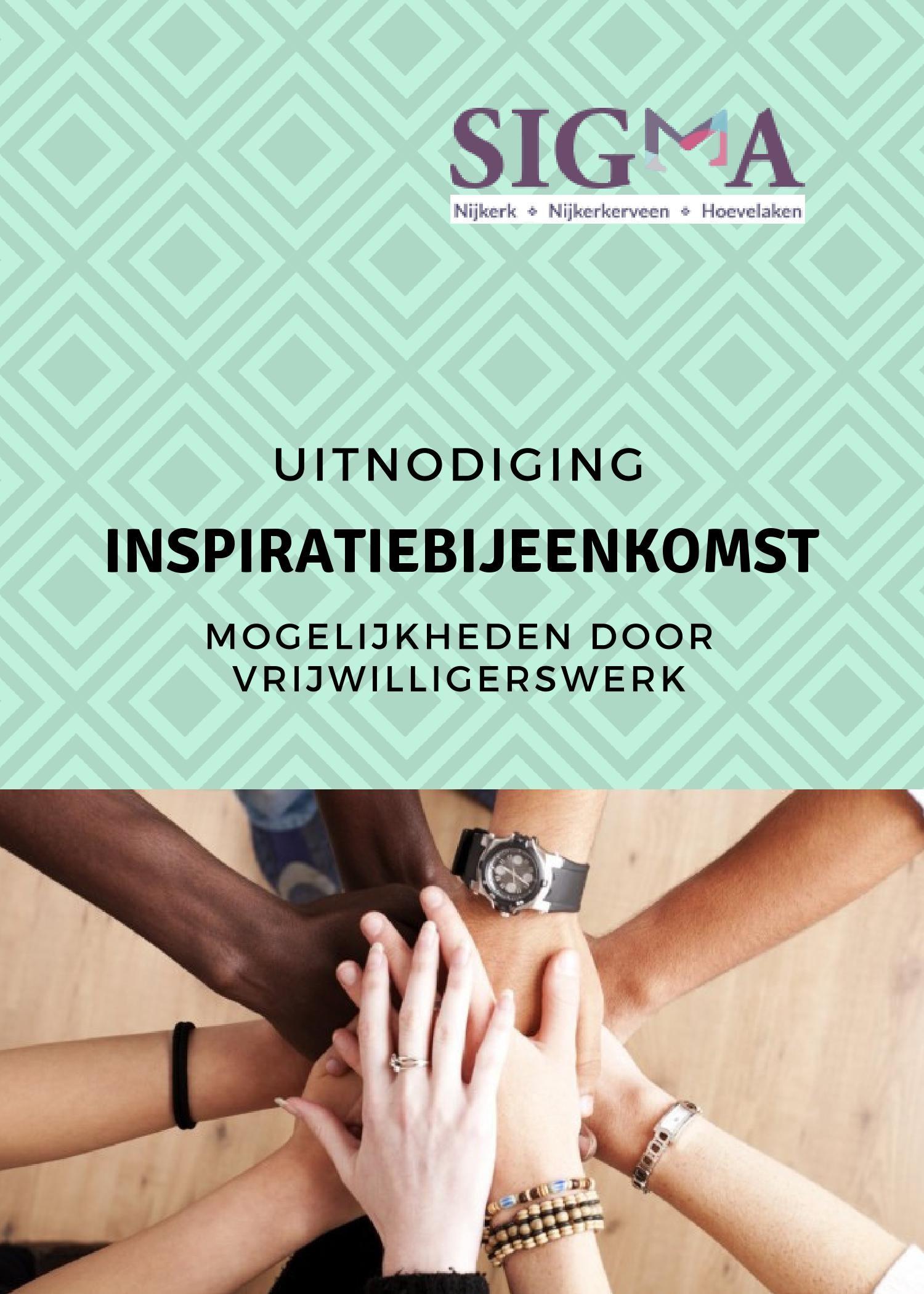 Uitnodiging inspiratiebijeenkomst: mogelijkheden door vrijwilligerswerk