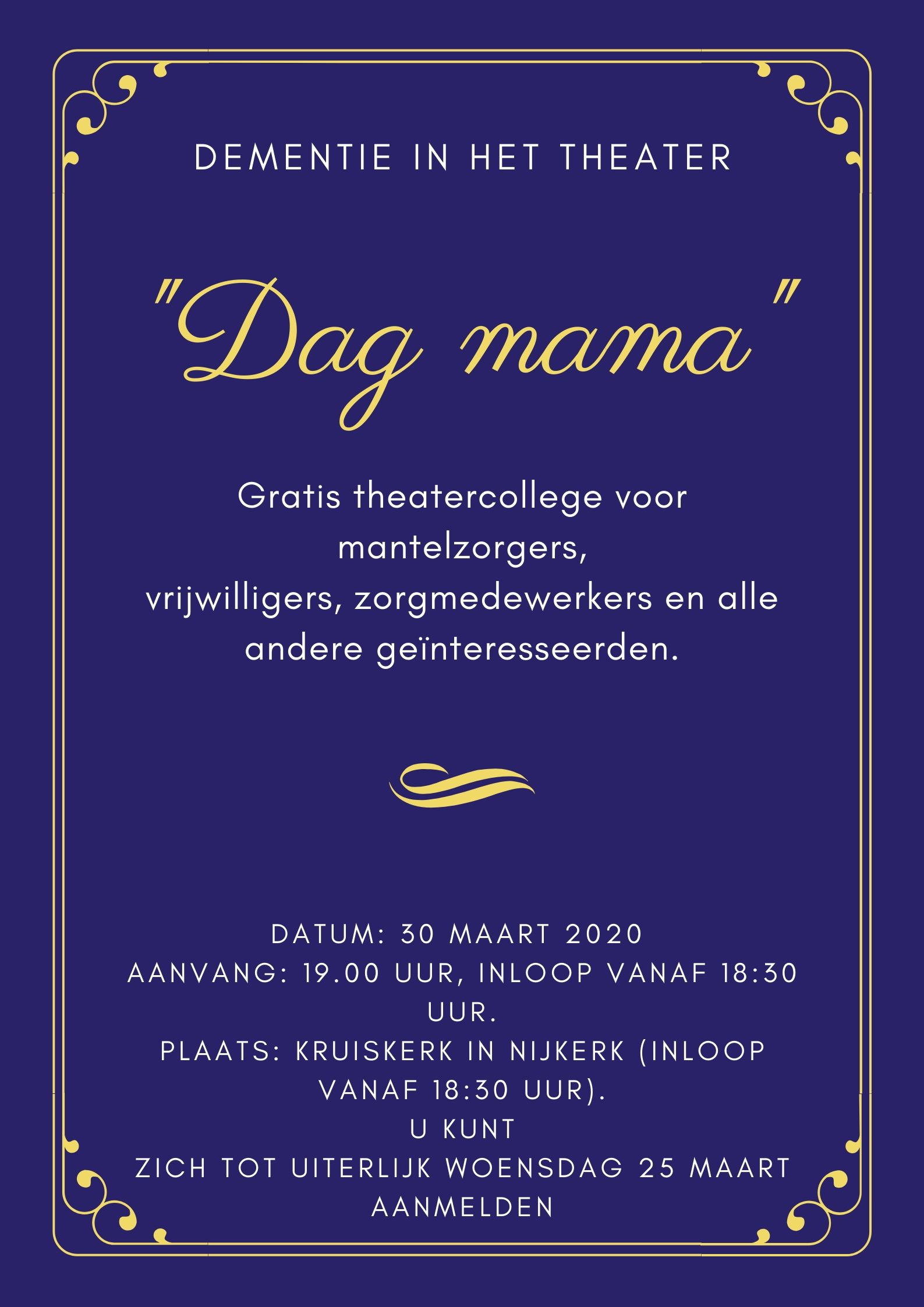 Dementie in Theater – Dag Mama