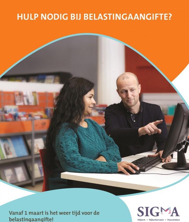 De Bibliotheek en Sigma helpen bij de belastingaangifte